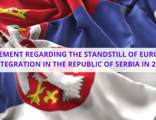 STATEMENT REGARDING THE STANDSTILL OF EUROPEAN INTEGRATION IN THE REPUBLIC OF SERBIA IN 2020