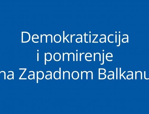 Demokratizacija i pomirenje na Zapadnom Balkanu