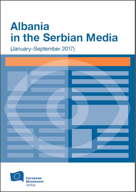 Albania in the Serbian Media, January-September 2017, naslovna