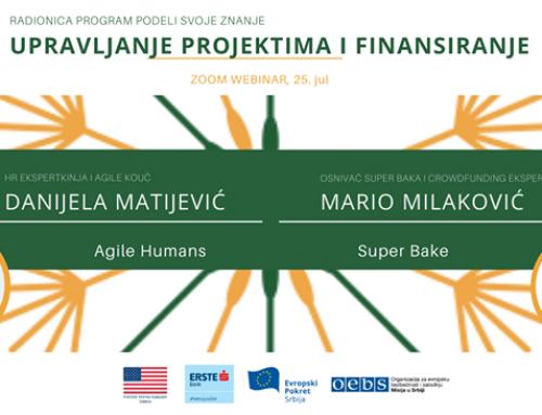 Održan Podeli svoje znanje webinar – Upravljanje projektima i finansiranje
